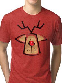 Christmas Reindeer T-Shirt Tri-blend T-Shirt