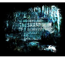 Age Is No Crime Photographic Print