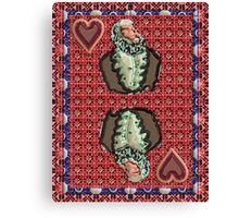 Art Gloss King of Hearts Canvas Print