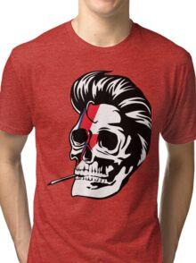 Skull Bowie Tri-blend T-Shirt