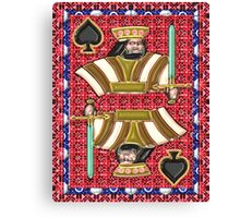 Art Gloss King of Spades Canvas Print
