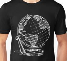 World Globe - white Unisex T-Shirt