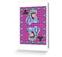 Art Gloss Queen of Clubs Greeting Card