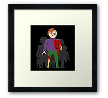 Zombies at Play Framed Print
