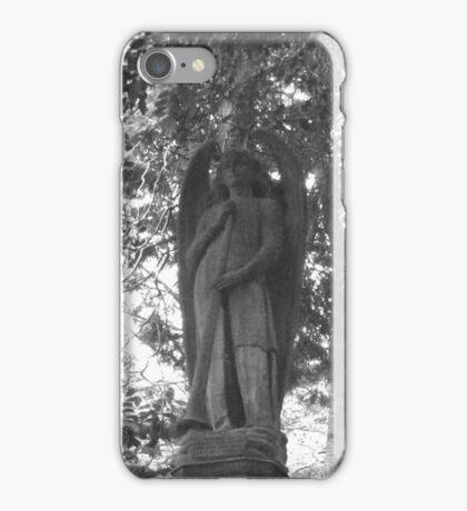 Highgate Cemetery Angel Gabriel iPhone Case/Skin