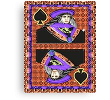 Art Gloss Queen of Spades Canvas Print