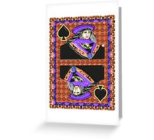 Art Gloss Queen of Spades Greeting Card
