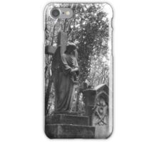 Highgate Cemetery Angel Cross iPhone Case/Skin