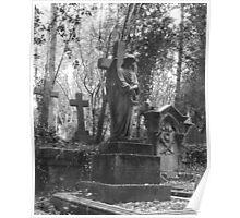 Highgate Cemetery Angel Cross Poster