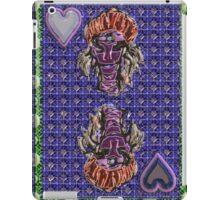 Art Gloss Queen of Hearts Blue Purple iPad Case/Skin