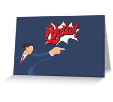 Ace Attorney Phoenix Wright Greeting Card