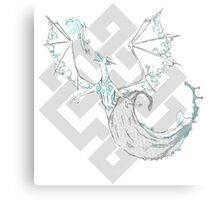 Water drenched dragon Canvas Print