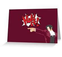 Ace Attorney Miles Edgeworth Greeting Card