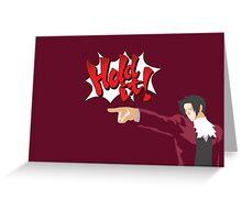 Ace Attorney Miles Edgeworth Greeting Card