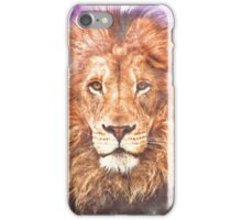 Lion - Pencil and Water Colour iPhone Case/Skin