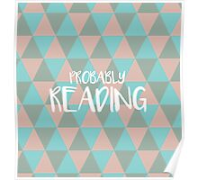 (Pale Pink) Probably Reading Poster