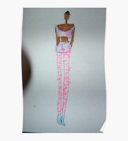 Black Woman Fashion Style Poster