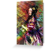 Ada Lovelace - Rainbow of Microchips Greeting Card
