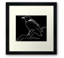 Crow (for dark backgrounds) Framed Print
