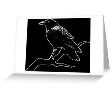 Crow (for dark backgrounds) Greeting Card