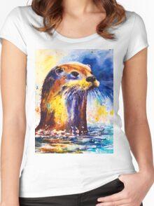 Ottie Otter Women's Fitted Scoop T-Shirt