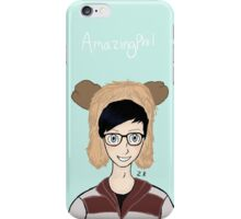 AmazingPhil Moose hat drawing iPhone Case/Skin