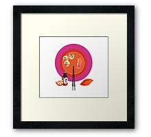 Sushi plate & chop sticks Framed Print
