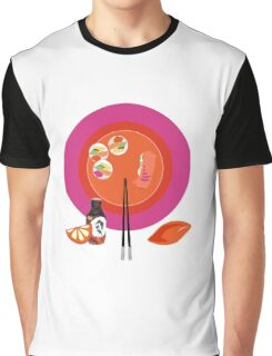 Sushi plate & chop sticks Graphic T-Shirt