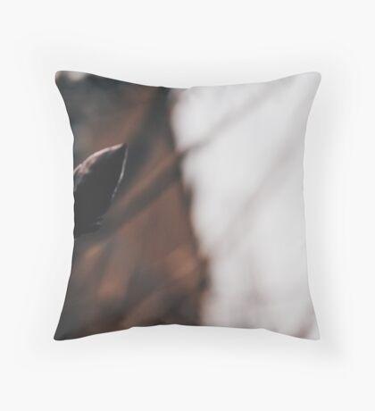winter buds Throw Pillow