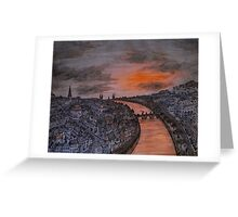 Sunset Cityscape Greeting Card
