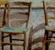 Three Chairs solarized Sticker
