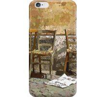 Three Chairs comics iPhone Case/Skin