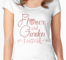 Epcot Flower and Garden Festival Women's Fitted Scoop T-Shirt