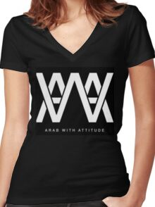 AWA - Arab With Attitude Women's Fitted V-Neck T-Shirt