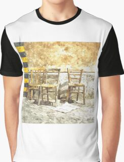 Three Chairs watercolor Graphic T-Shirt