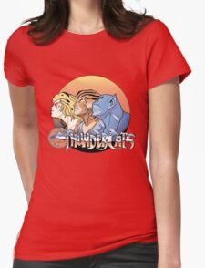 thundercats design t-shirt Womens Fitted T-Shirt