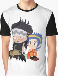 Gajeel and Levy Couple Chibi Graphic T-Shirt