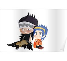 Gajeel and Levy Couple Chibi Poster