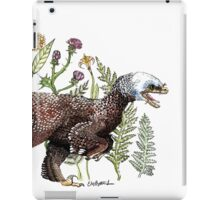 Velociraptor and plant life iPad Case/Skin