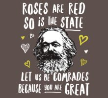 Roses Are Red So Is The State Let Us Be Comrades Because You Are Great One Piece - Short Sleeve