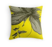Infinite Kiss - Warhol Collection, Piece 1 (Yellow) Throw Pillow