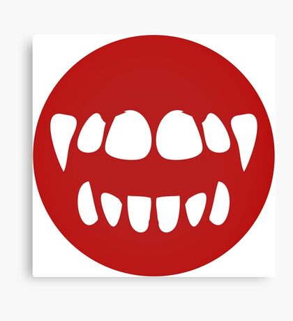 vampire mouth Canvas Print