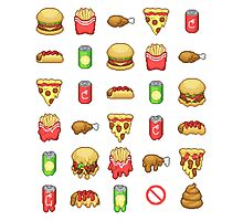 Bad Consumption - Fast Food Photographic Print