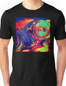 Colorful Motorcycle Engine Unisex T-Shirt