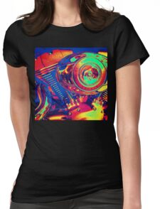 Colorful Motorcycle Engine Womens Fitted T-Shirt