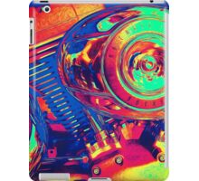Colorful Motorcycle Engine iPad Case/Skin
