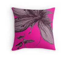Infinite Kiss - Warhol Collection, Piece 2 (Magenta) Throw Pillow