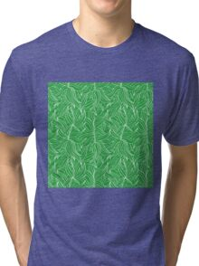 Seamless floral pattern with leaves motive Tri-blend T-Shirt