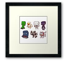 Cute Minecraft Mobs  Framed Print