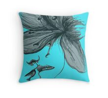 Infinite Kiss - Warhol Collection, Piece 3 (Turquoise) Throw Pillow